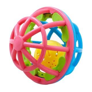 【SmartAngel】 ごきげんラトルボール ピンク&ブルー