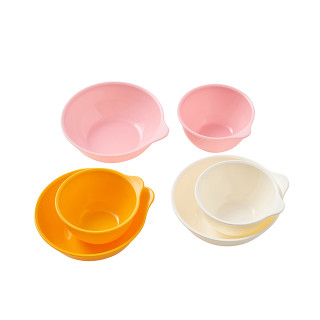 【SmartAngel】 離乳食カップ&ボウルセット(各3個入) ピンク