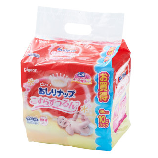 ピジョン おしりナップ詰替乳液タイプ 66枚×10個パック