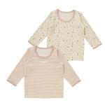 女児 2枚組 キルト長袖シャツ