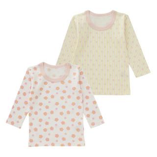 女児 2枚組 接結長袖シャツ