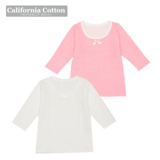 【ELFINDOLL】 女児 2枚組 厚地長袖シャツ