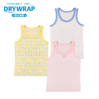 DRYWRAP ベビー 女児 3枚組 タンクトップ