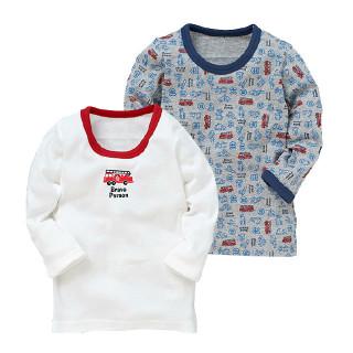 ベビー男児2枚組長袖シャツ