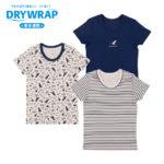 DRYWRAP キッズ 男児 3枚組 半袖シャツ