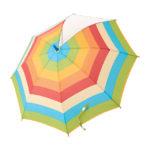 【ELFINDOLL】 グラスファイバー傘(ボーダー柄)