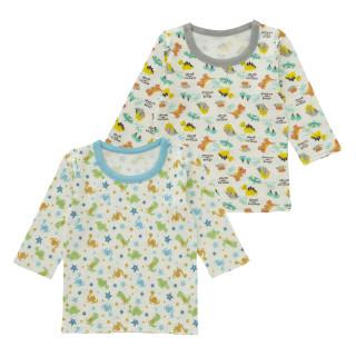 男児2枚組厚地長袖シャツ