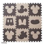 【SmartAngel】 デザインマット ミッキーマウス&ミニーマウス ブラウン&ベージュ 9枚入