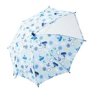 【ELFINDOLL】 手開き傘(マリン柄)