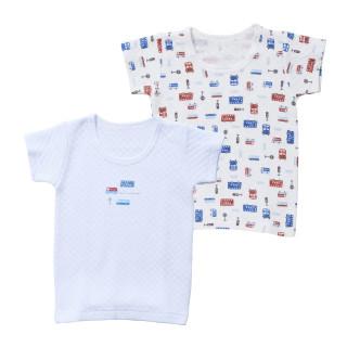 ベビー男児2枚組キルト半袖シャツ