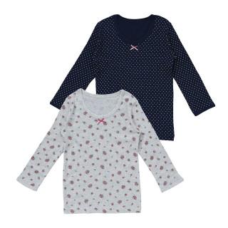 女児2枚組長袖シャツ
