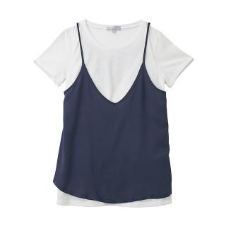授乳口付 Tシャツ&キャミソールセット