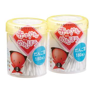 平和メディク 赤ちゃん綿棒 だんご型 180本×2個