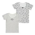 女児2枚組厚地半袖シャツ