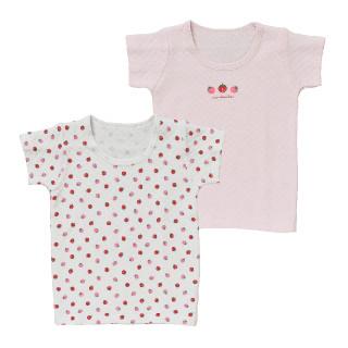 女児2枚組キルト半袖シャツ