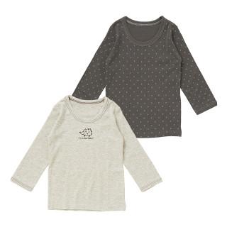 男児2枚組長袖シャツ