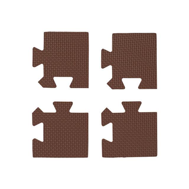 ブラウン色の抗菌外枠 コーナー部用 4枚入