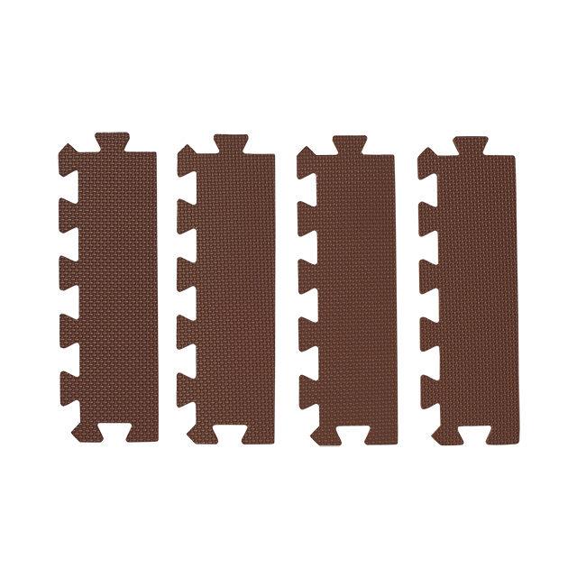 ブラウン色の抗菌外枠 直線部用 4枚入