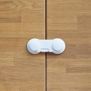 【SmartAngel】 開き戸ロック(プッシュして回転タイプ) 抗菌仕様